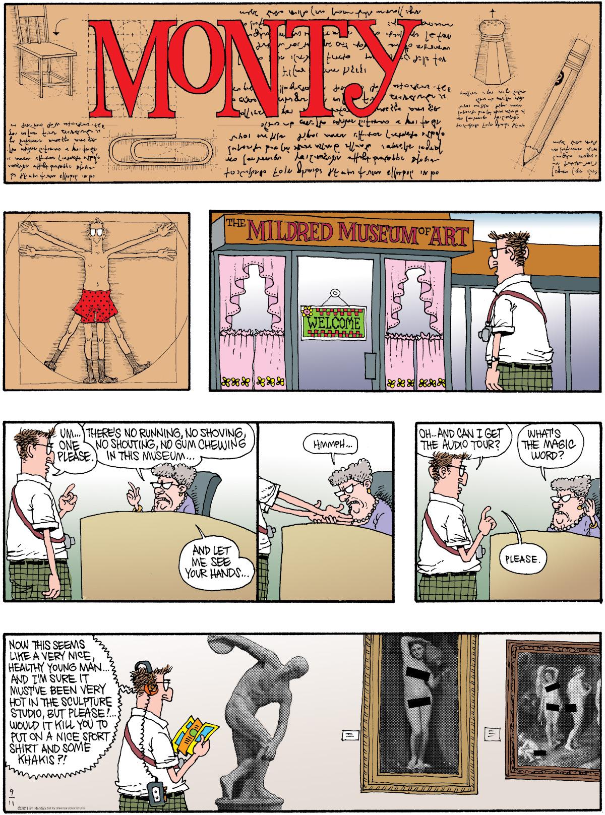 Monty Comic Strip for September 11, 2011