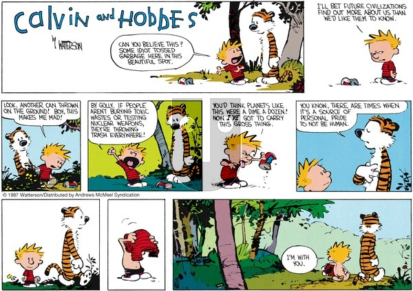 Calvin and Hobbes - Sunday July 16, 2017 Comic Strip