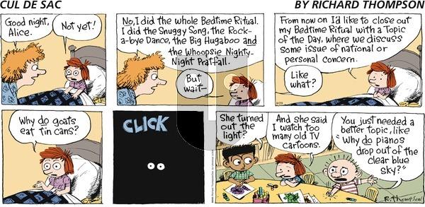 Cul de Sac on Sunday September 29, 2013 Comic Strip