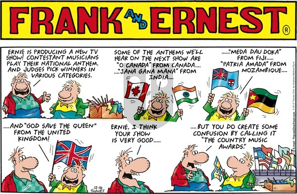 Frank and Ernest on Sunday December 16, 2018 Comic Strip