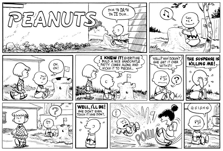 Peanuts for Apr 25, 1954 Comic Strip