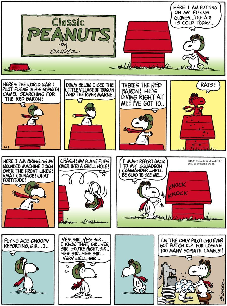 Peanuts Comic Strip for July 28, 2013