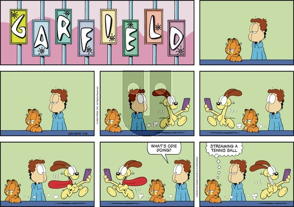 Garfield on Sunday July 26, 2020 Comic Strip
