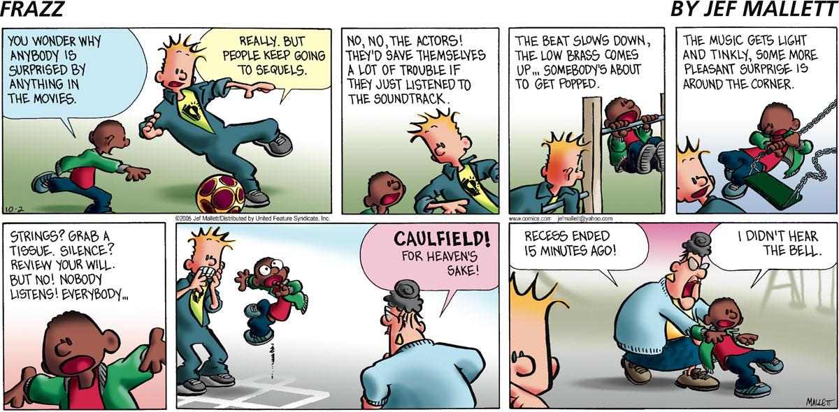 Frazz for Oct 2, 2005 Comic Strip