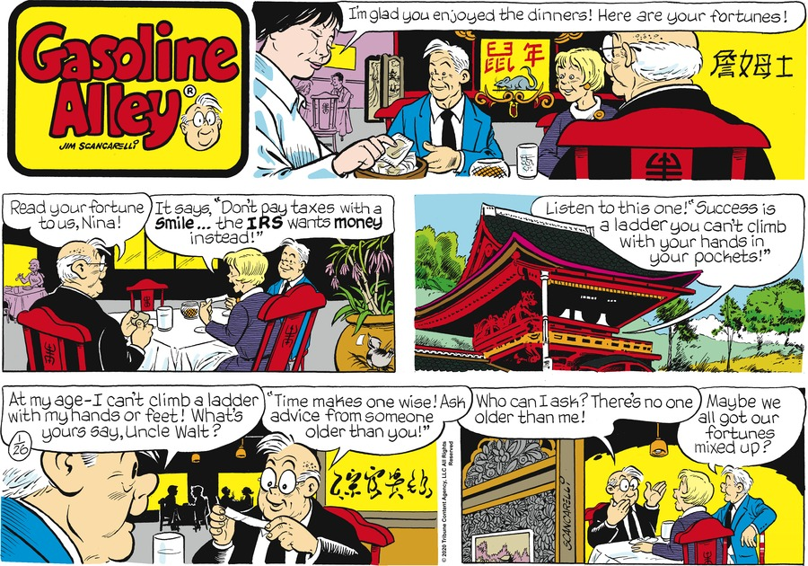 Gasoline Alley Comic Strip for January 26, 2020