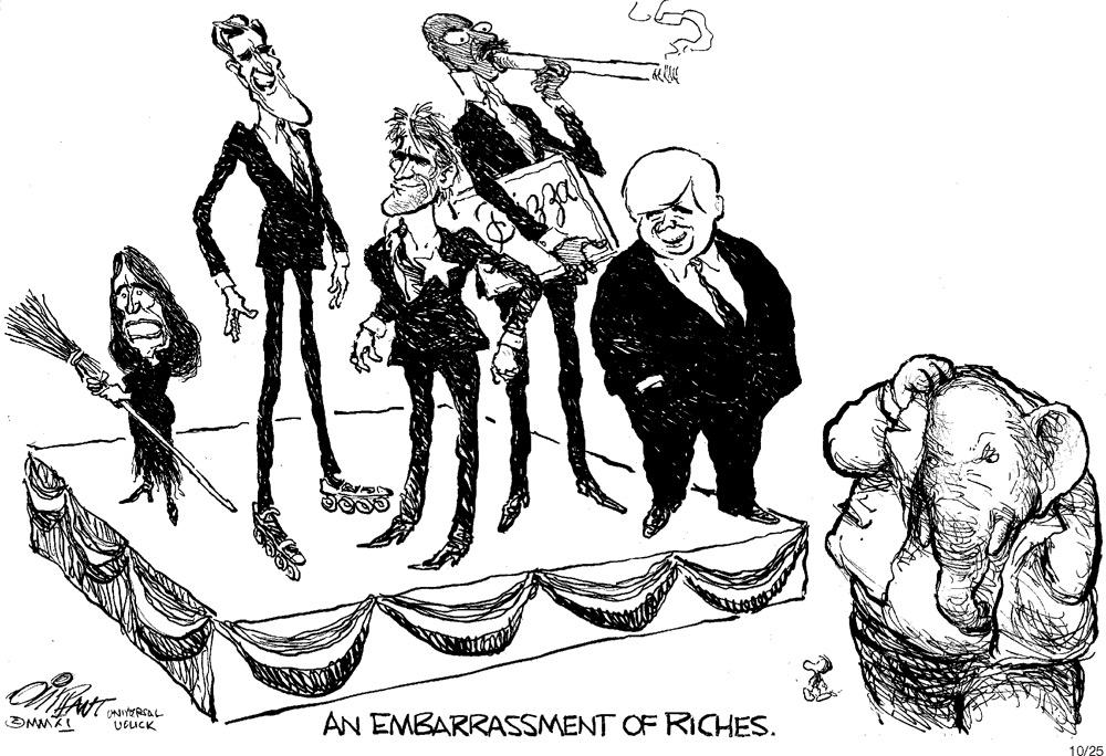 An embarrassment of riches.