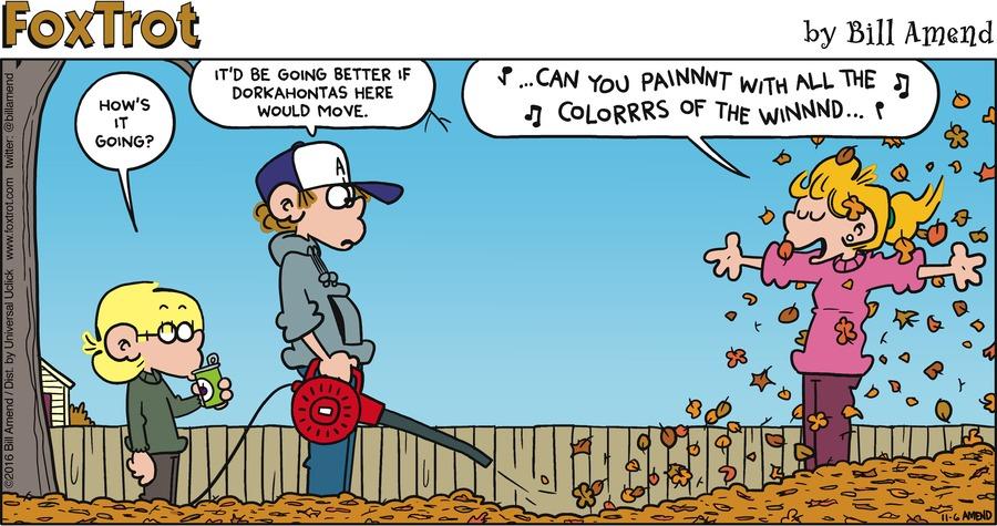 FoxTrot Comic Strip for November 06, 2016