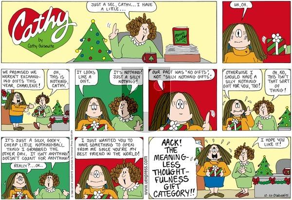 Cathy on Sunday December 20, 1998 Comic Strip