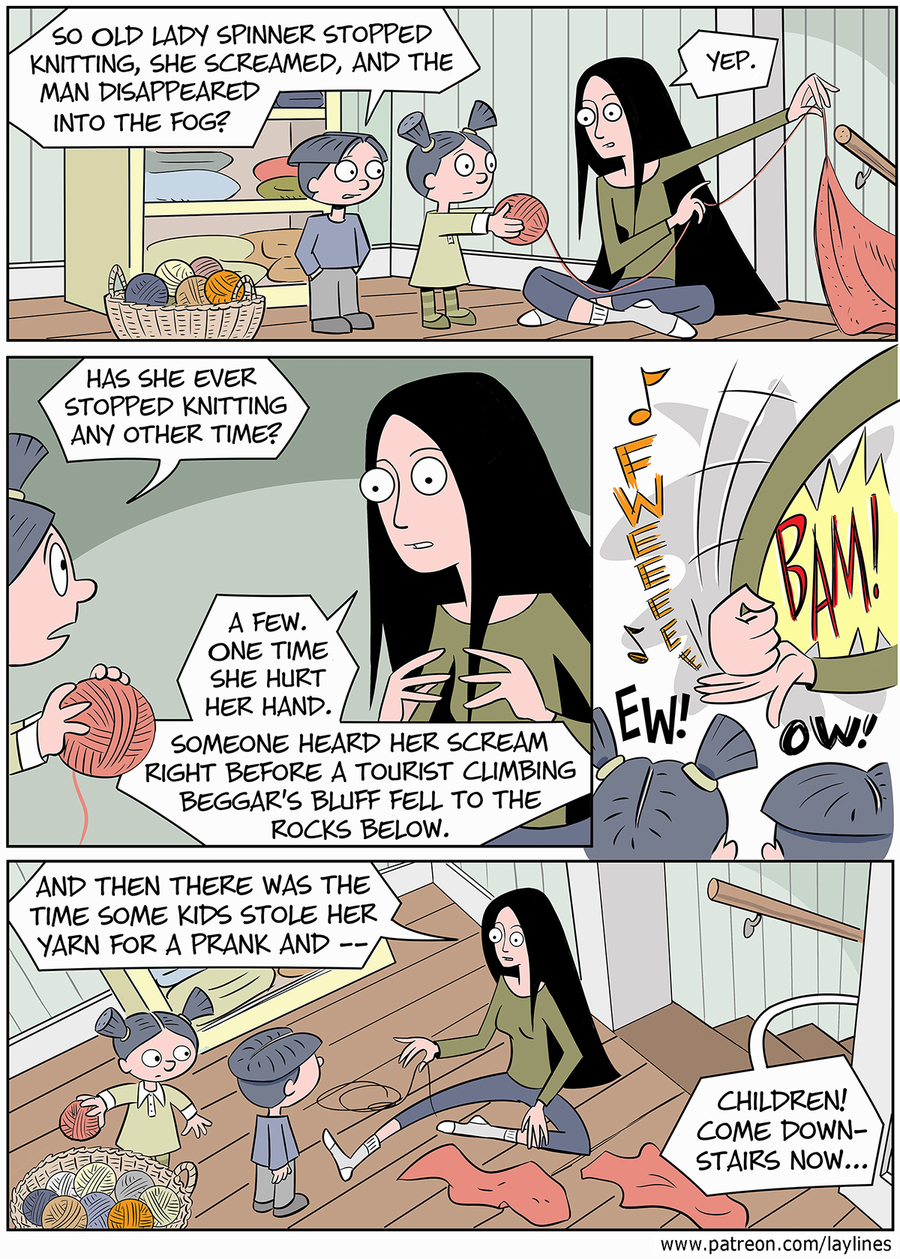 Lay Lines Comic Strip for August 17, 2015