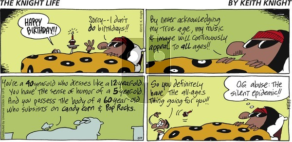 The Knight Life on Sunday March 17, 2013 Comic Strip