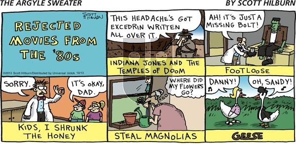 The Argyle Sweater on Sunday October 13, 2013 Comic Strip