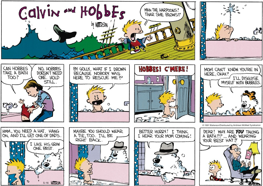 Calvin and Hobbes Comic Strip for May 16, 2021