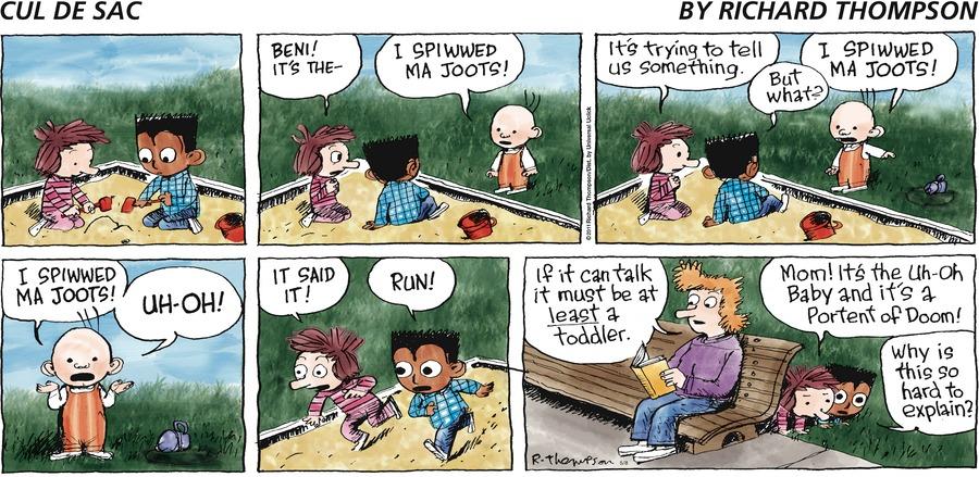 Cul de Sac Comic Strip for May 08, 2016
