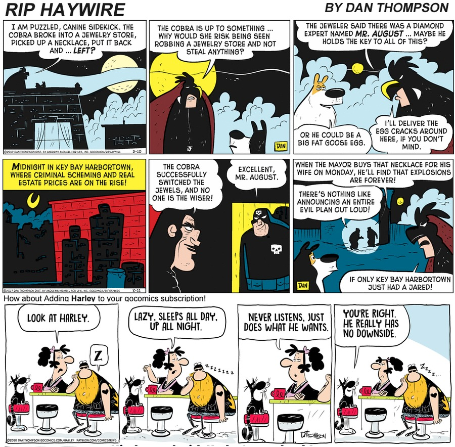 Rip Haywire Comic Strip for January 10, 2021