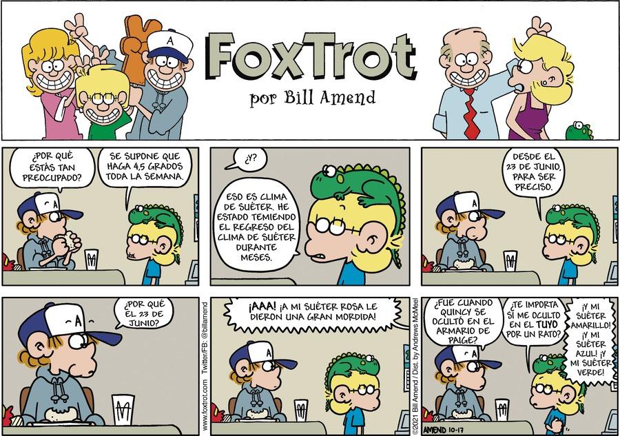 FoxTrot en Español by Bill Amend on Sun, 17 Oct 2021