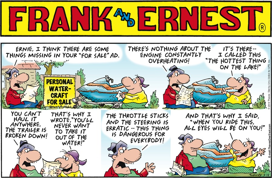 Frank and Ernest Comic Strip for May 12, 2013