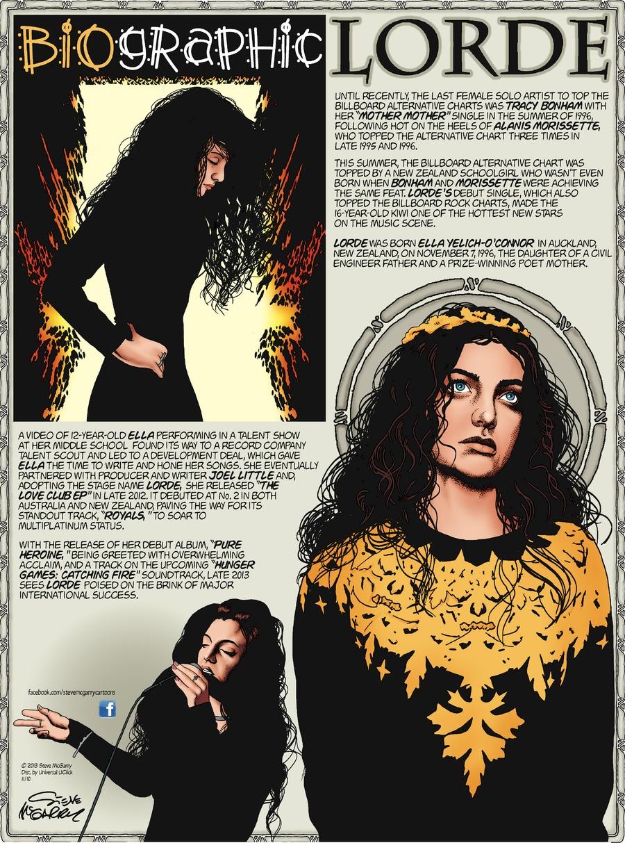 Biographic Comic Strip for November 10, 2013