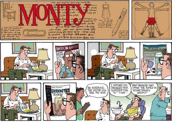 Monty on Sunday July 17, 2016 Comic Strip