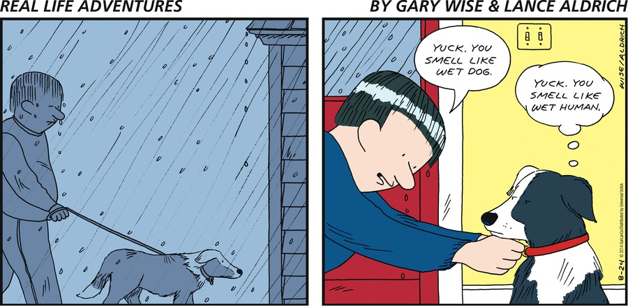 Real Life Adventures Comic Strip for August 24, 2014