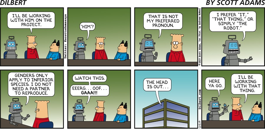 Robot Pronouns - Dilbert by Scott Adams