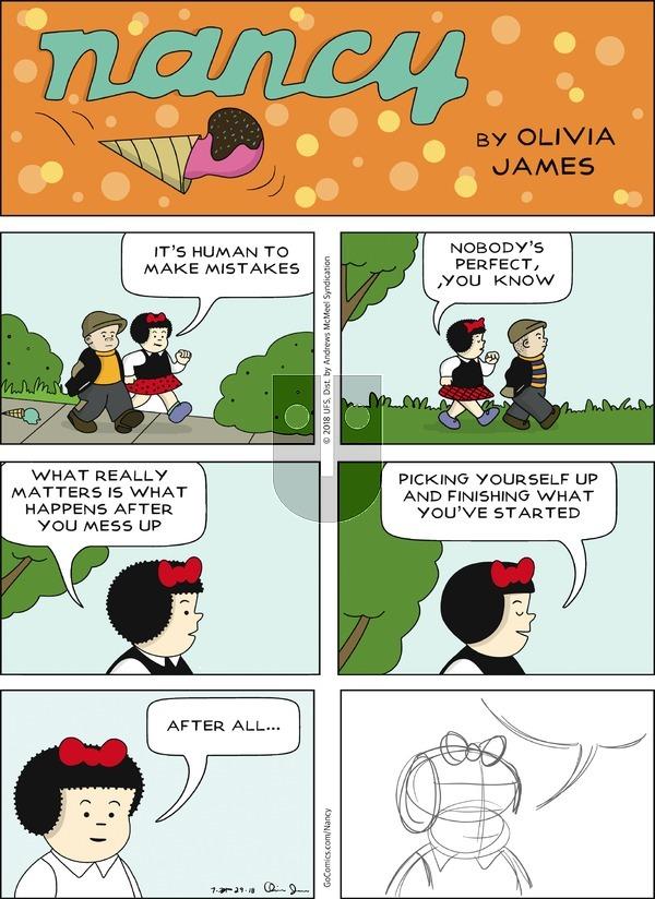 Nancy - Sunday July 29, 2018 Comic Strip