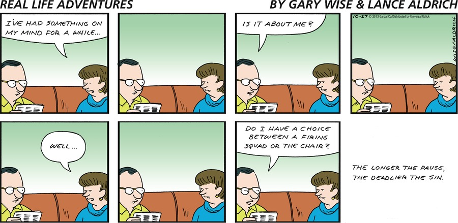 Real Life Adventures for Oct 27, 2013 Comic Strip