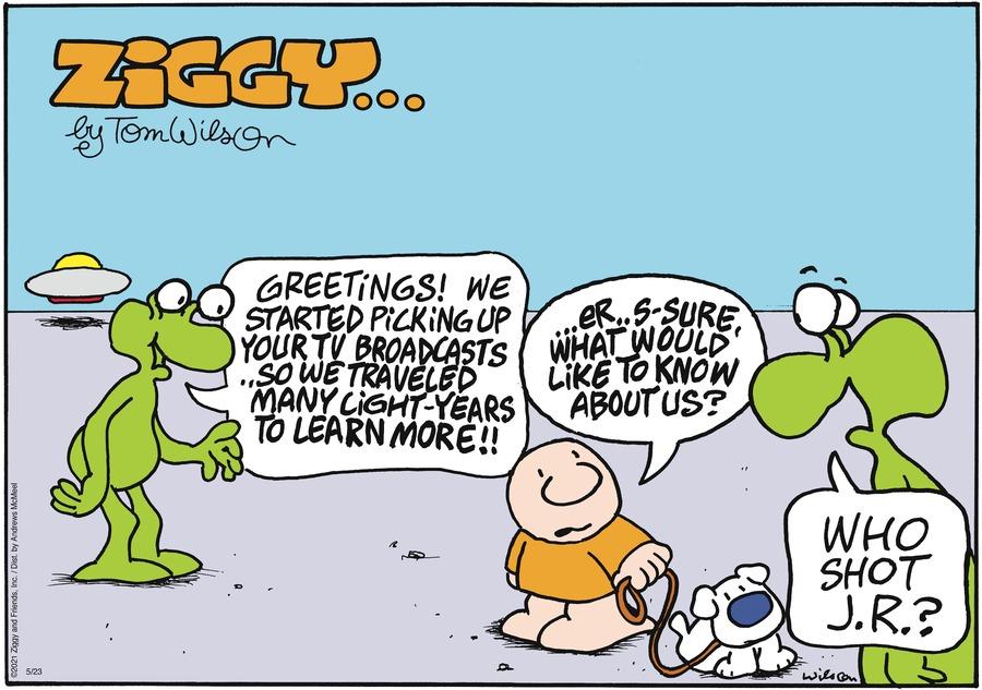 Ziggy Comic Strip for May 23, 2021