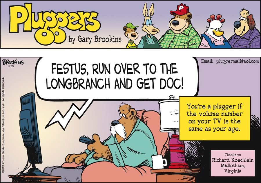 Pluggers Comic Strip for December 08, 2019