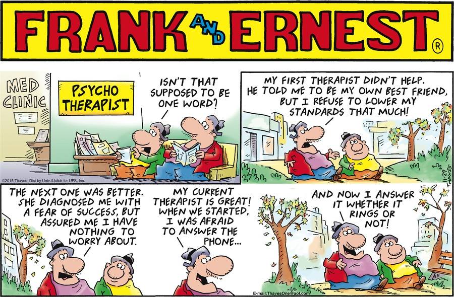 Frank and Ernest Comic Strip for November 29, 2015
