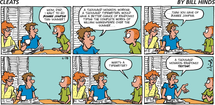 Cleats Comic Strip for June 28, 2009