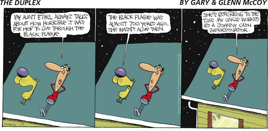 The Duplex Comic Strip for April 18, 2021