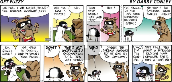 Get Fuzzy on Sunday May 6, 2012 Comic Strip