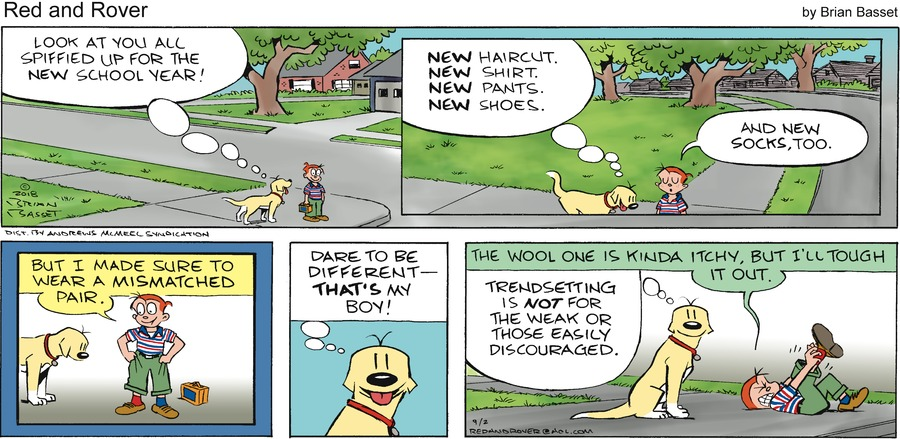 Red and Rover Comic Strip for September 02, 2018