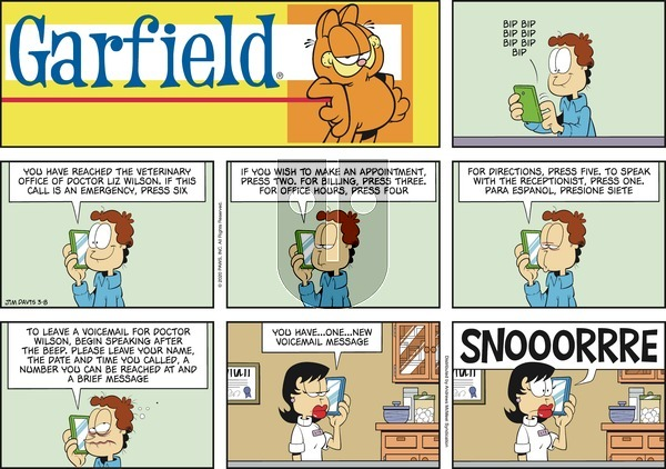 Garfield on Sunday March 8, 2020 Comic Strip