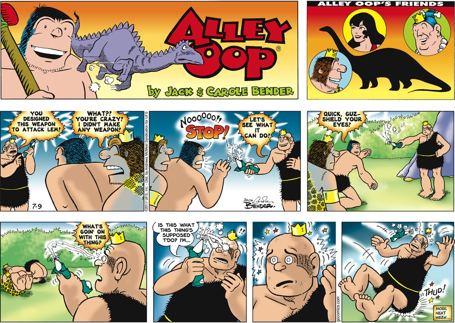 Alley Oop Comic Strip for July 09, 2017