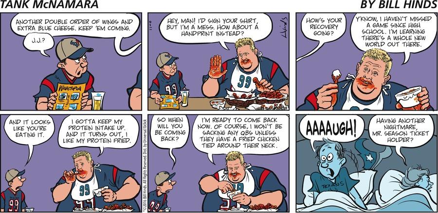 Tank McNamara Comic Strip for November 06, 2016