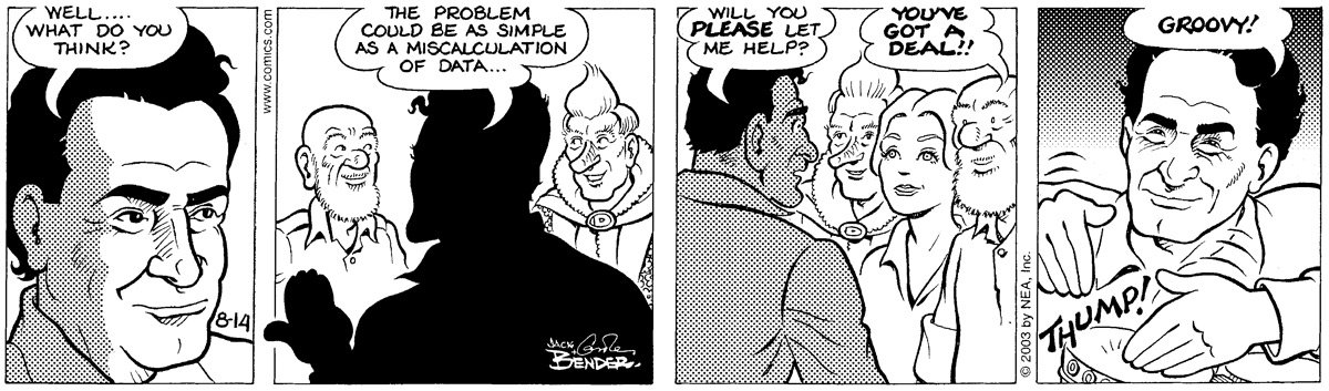 Alley Oop for Aug 14, 2003 Comic Strip