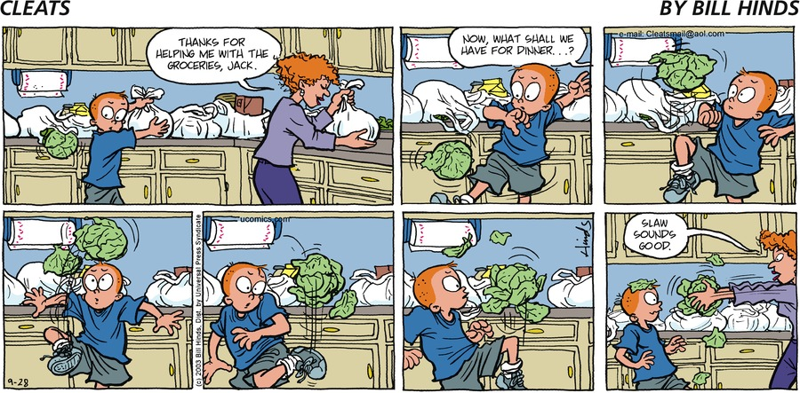 Cleats Comic Strip for September 06, 2021