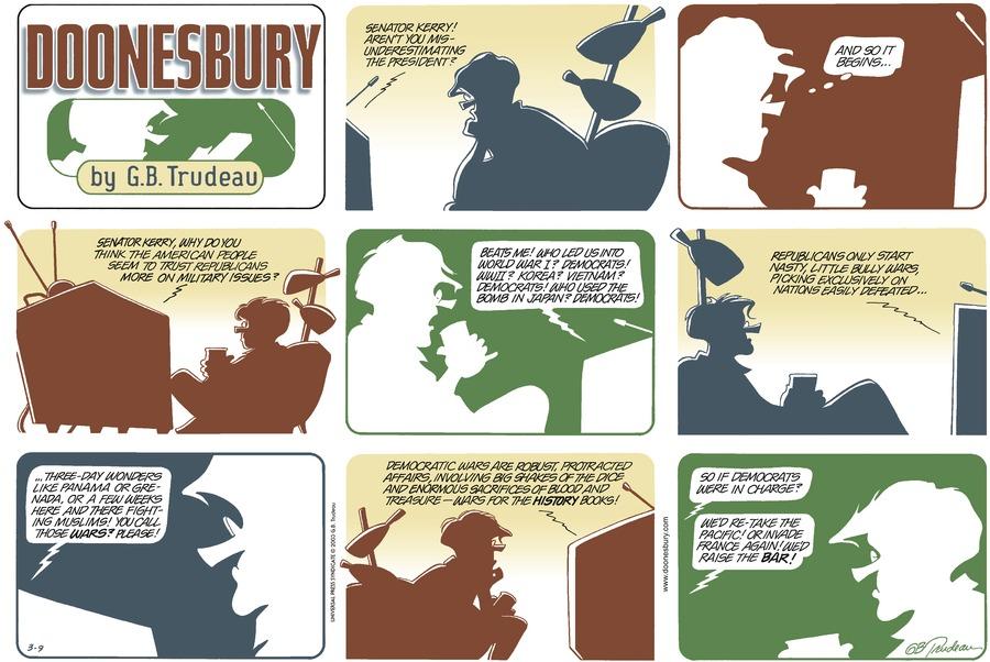 Doonesbury for Mar 9, 2003 Comic Strip