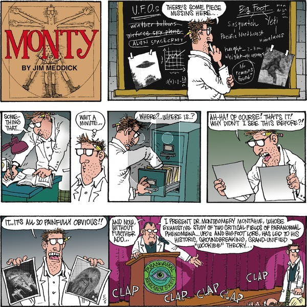 Monty on Sunday November 5, 2017 Comic Strip