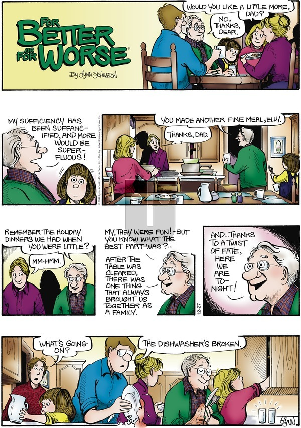 For Better or For Worse on Sunday December 27, 1998 Comic Strip