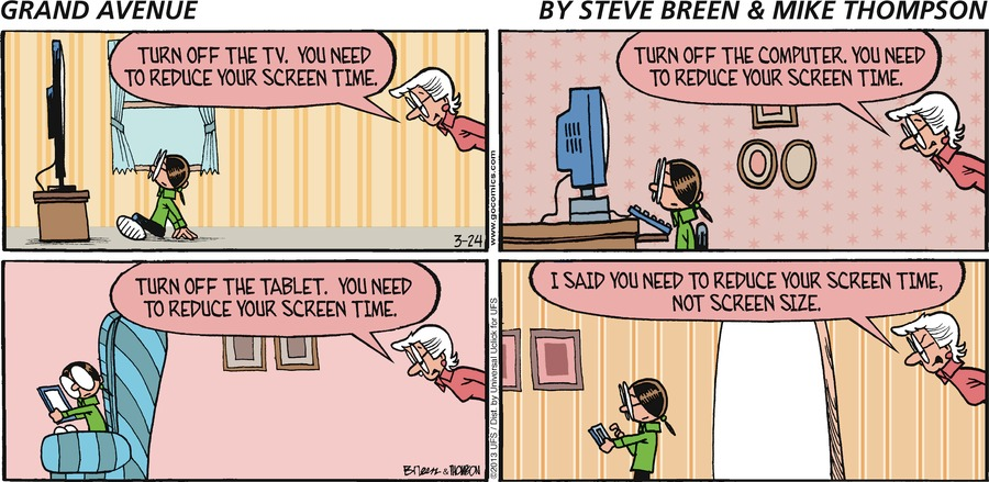 Grand Avenue Comic Strip for March 24, 2013