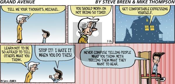 Grand Avenue on Sunday February 26, 2012 Comic Strip