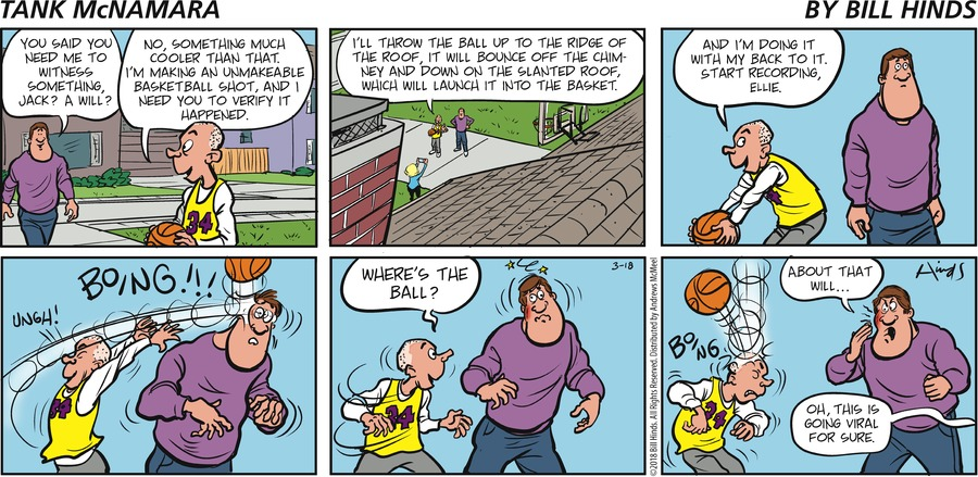 Tank McNamara Comic Strip for March 18, 2018