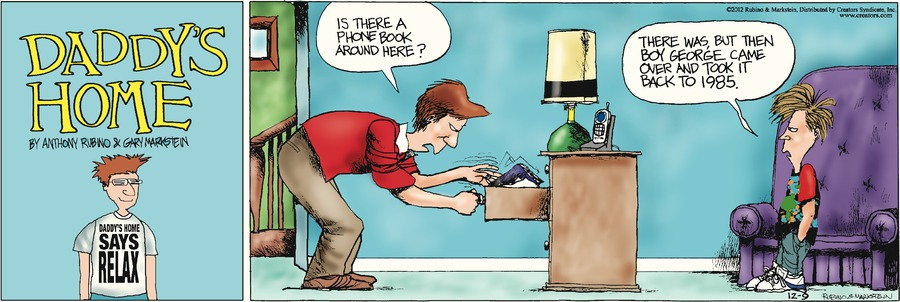 Daddy's Home for Dec 9, 2012 Comic Strip