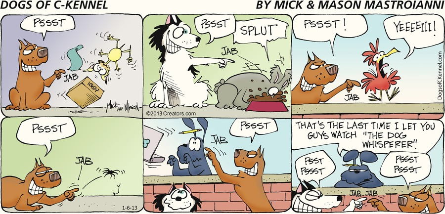 Dogs of C-Kennel for Jan 6, 2013 Comic Strip