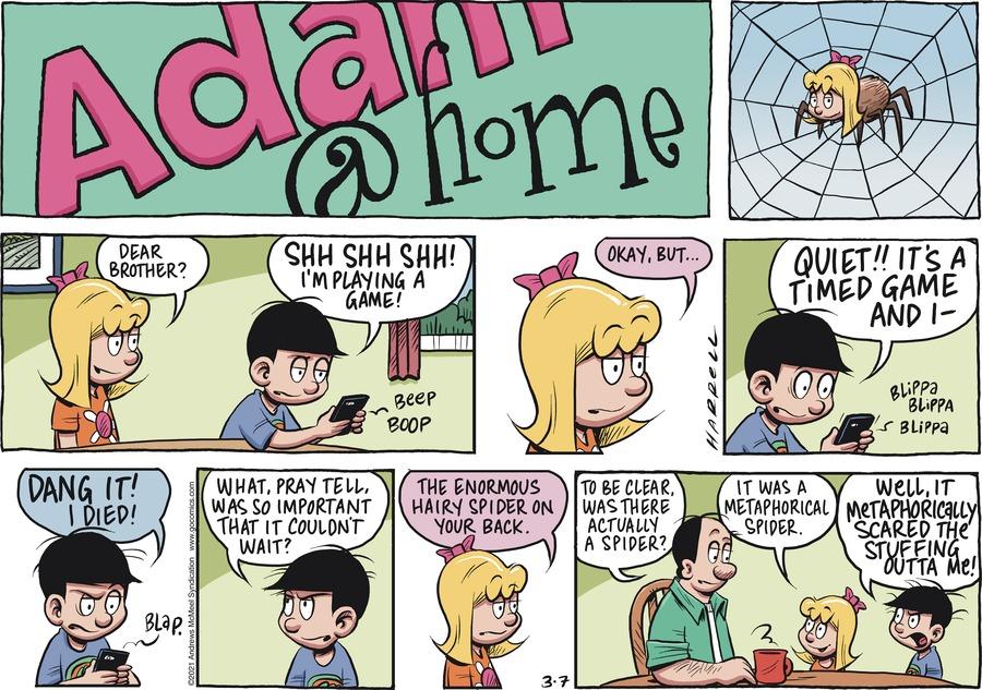 Adam@Home Comic Strip for March 07, 2021
