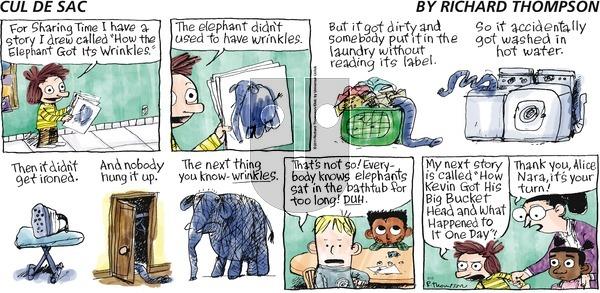 Cul de Sac on Sunday May 15, 2016 Comic Strip