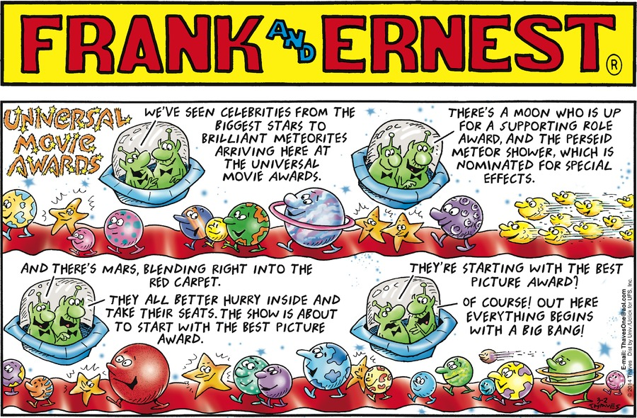 Frank and Ernest for Mar 2, 2014 Comic Strip