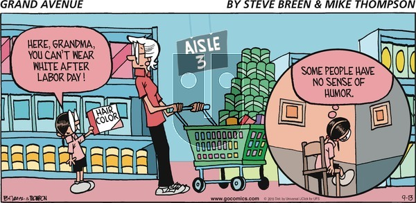 Grand Avenue on Sunday September 13, 2015 Comic Strip